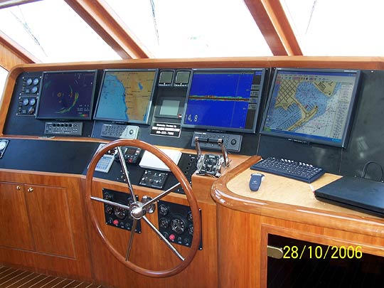 Furuno NavNetVx2 systems, Furuno CH250BB Sonar finished console