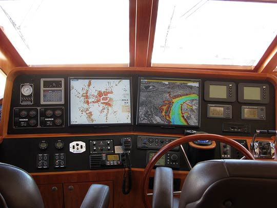 Complete Furuno NavNet3D system - Furuno CH300BB Sonar - Full complement of electronics in Pilot House